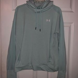 teal under armour funnel neck hoodie